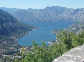 A view from above Kotor of the Bay,