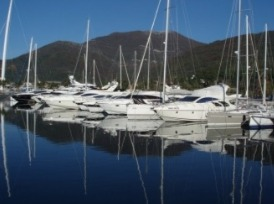 Boats moored at Porto Montenegro, Tivat