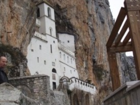 Ostrog Monastery, the most famous pilgrim site in Montenegro.